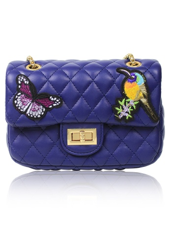 Dazz blue Embroidered Fauna (L) Bag - Blue DA408AC08JYLMY_1