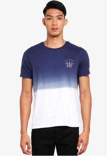 Burton Menswear London 海軍藍色 短袖印花T恤 81EE6AAA9A7AA6GS_1