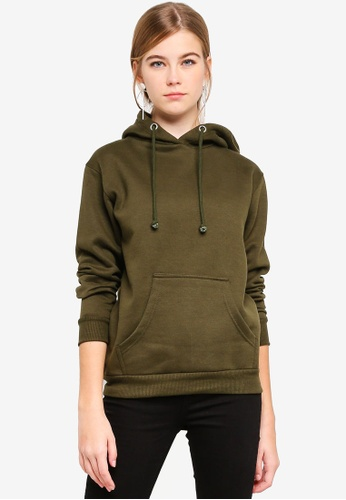 Brave Soul green Hooded Sweater With Pouch Pocket 33DB7AA9B3EE70GS_1