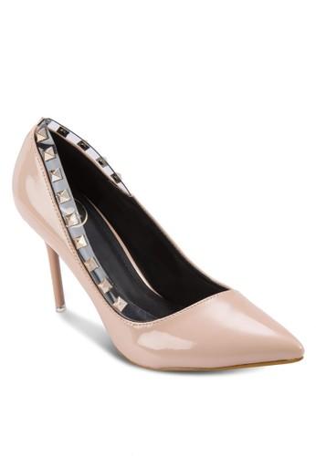 鉚釘尖頭高跟鞋,zalora 衣服尺寸 女鞋, 鞋