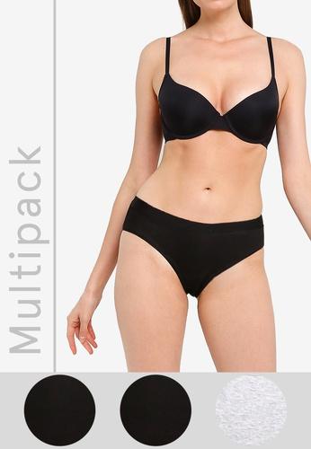 Cotton On Body black and grey Cotton Bikini Briefs 3-Pack A0D66USC62E64EGS_1