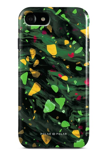 Polar Polar green Malachite Terrazzo Gem Dual-Layer Tough Case Glossy For iPhone SE (2nd) / 8/7 ECFE7AC135CC57GS_1