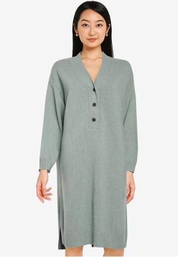 LOWRYS FARM green Knit Dress 21E54AA054DD2FGS_1