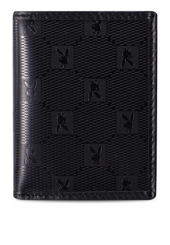 Playboy black Textured Card Holder 6FB32ACFAA4915GS_1