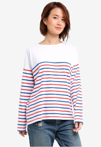 Jack Wills red Willoughby Classic Breton Top 1F730AA9CC0F9DGS_1