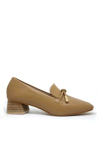 Twenty Eight Shoes 褐色 小踭方頭包子鞋TH2018-16 FC0C0SHEC8E785GS_1