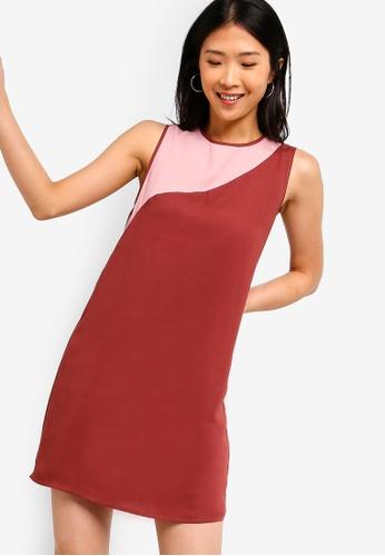 ZALORA BASICS pink Basic Multicolour Shift Dress 9E511AA7F115D9GS_1