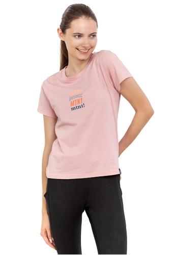 Huitieme pink HUITIÈME MULTICOLOUR GRAPHIC SHORT SLEEVE COTTON PINK TEE. 01DD1AA0545C38GS_1