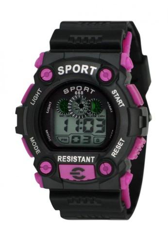 Dooka purple Multifunction Sports Watch 668 DO079AC90MDPPH_1