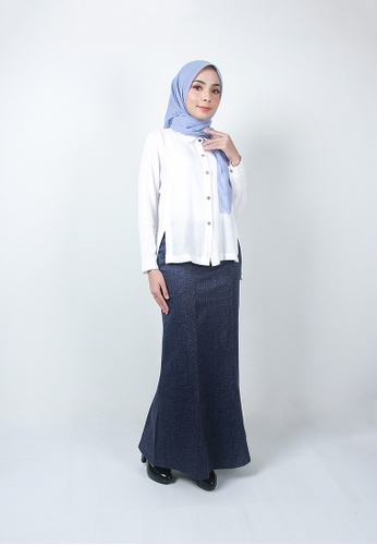 Ladies Jeans blue Stylish Long Skirt FBCC4AA4A328FAGS_1