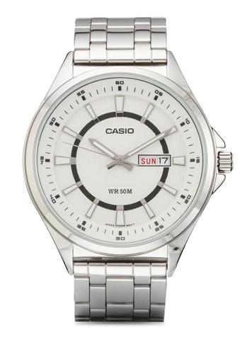 MTP-E108D-7AVDF 刻度顯示不銹鋼男錶, 錶類, 飾esprit台灣門市品配件