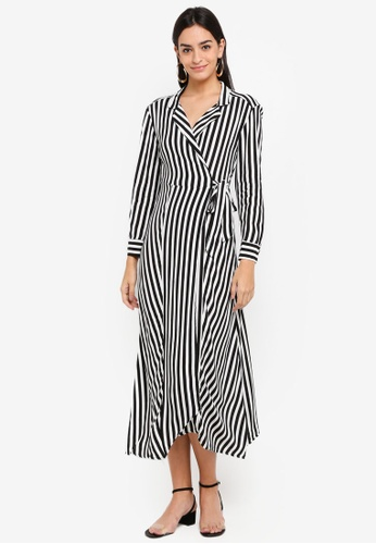 TOPSHOP black Stripe Shirt Dress 3BB59AA57F4215GS_1