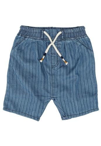 LC Waikiki blue Baby Boy's Striped Shorts 08A56KA9D029B8GS_1