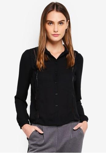 Vero Moda black Florida Long Sleeve Blouse 77F2BAAFF1AE6AGS_1