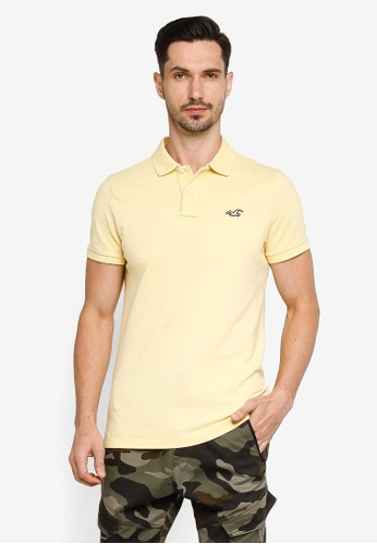 Hollister yellow Core Polo Shirt B8F61AABB1B833GS_1