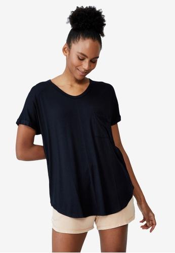 Cotton On Body black Sleep Recovery Pocket T-Shirt 034C5AAEB246ECGS_1