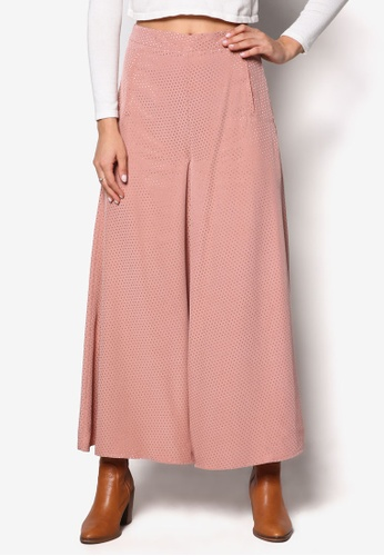 TOPSHOP pink Pinspot Palazzo Trousers TO412AA03FAAMY_1