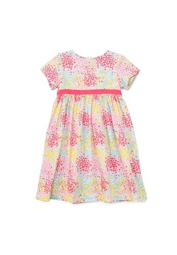 PONEY pink Poney Sophia Colourful Polka Dot Empire Cut Cotton Printed Short Sleeve Dress C9182KA901E07AGS_1