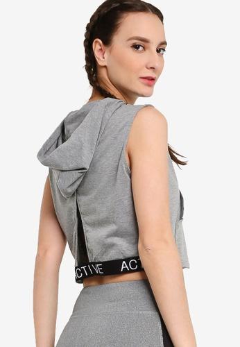 ZALORA ACTIVE grey Sleeveless Hoodie F1E58AA1D05381GS_1
