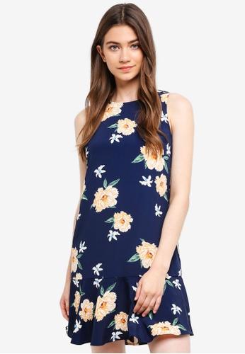 Something Borrowed navy Fluted Hem Sleeveless Dress 6DECEAAD10A9EDGS_1