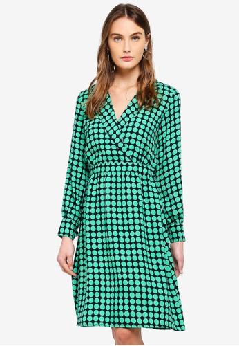 Vero Moda navy Sarah Dot L/S Wrap Dress 40B52AA28E6727GS_1