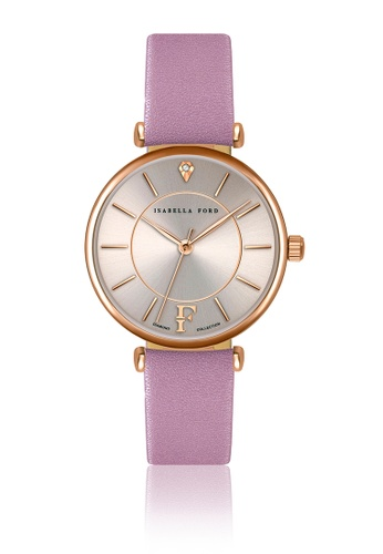 Isabella Ford multi Isabella Ford Sophia Pink Leather Women Watch 20FBAACDEEC132GS_1