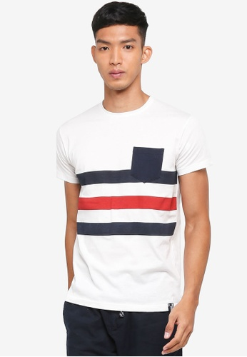 Indicode Jeans blue Nasir Bold Striped Pocket T-Shirt FB583AA4D7E70AGS_1