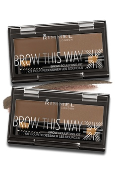 753bc1f1059 Rimmel London brown Rimmel Brow This Way Eyebrow Powder Kit 002- Medium  Brown [Bundle