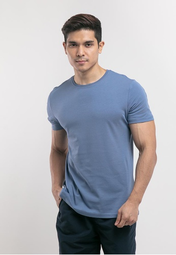 FOREST black Forest Plus Size Premium 100% Cotton Interlock Knitted Crew Neck Tee - PL23601 - Blue 1F099AAA4B7140GS_1