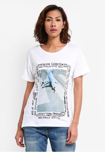 Mango blue Printed Image T-Shirt F1FA7AA923D3A4GS_1