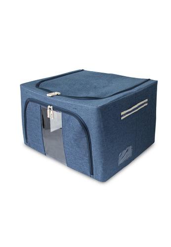 HOUZE blue HOUZE - Foldable Linen Storage Box (Blue Denim) 21748HL96C0259GS_1