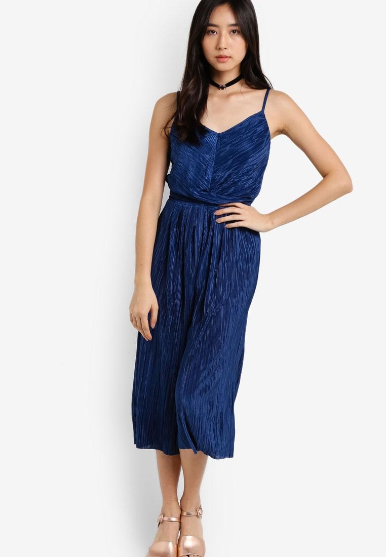 Plisse Blue Cami Selfridge Blue Jumpsuit Miss AEq4y