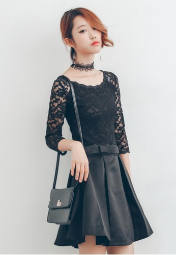 Shopsfashion black Party Flare Dress in Black SH656AA59QPCSG_1