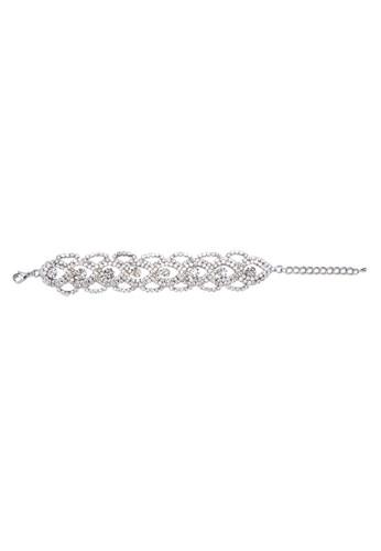 晶鑽鏤空網狀手鍊, 飾esprit 見工品配件, 手鐲 & 手環