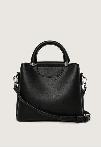 Lara black Women's Plain Leather Zipper Handbag Cross-body Bag - Black 082BBAC92F82EBGS_1