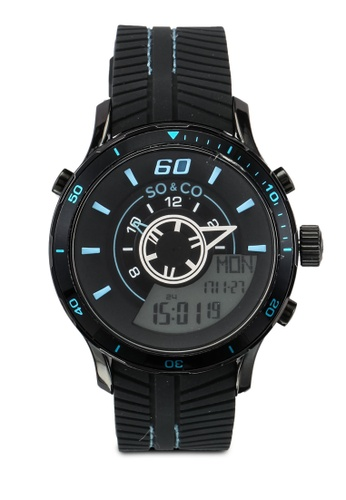 SO&CO black Monticello Watch 5035 SO540AC0SHM7MY_1