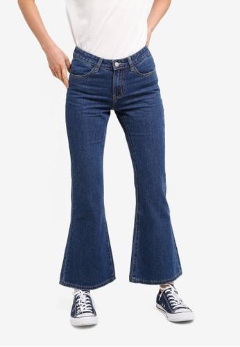 ZALORA BASICS blue Basic Flare Jeans B3512AA5A1676EGS_1