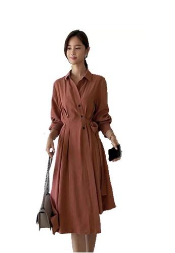 ae5e2ef70 Buy Crystal Korea Fashion Autumn New Elegant Slim Tie Dress