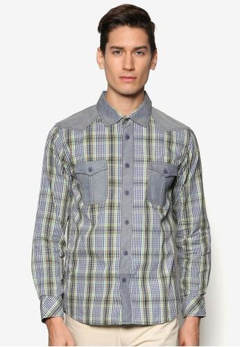 雙口袋格紋長袖襯衫, 服飾, esprit官網襯衫