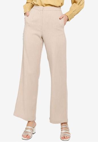 Soonaru beige Milk Tea Pants E42ECAAC0CF65AGS_1