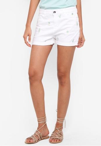 ESPRIT white Woven Shorts 8768DAA7E1AE29GS_1