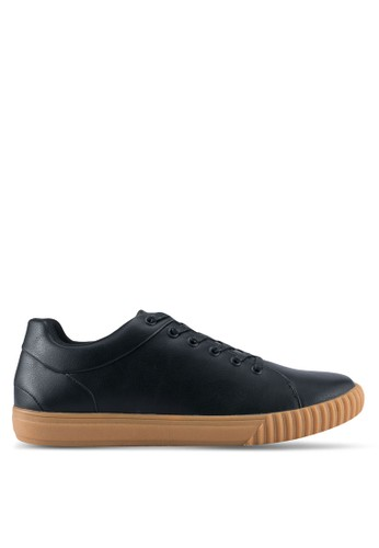ZALORA black Gum Sole Trainers 66603SH24EEE92GS_1