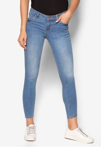 水洗低腰窄管牛仔褲, zalora鞋子評價服飾, 服飾