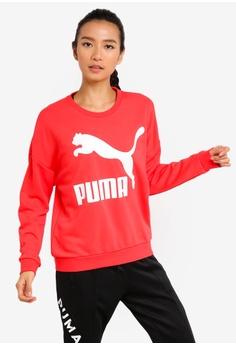 4d4d11eaf45f Puma red Sportstyle Prime Classics Logo Crew Sweatshirt B4531AA0EAB9E2GS 1
