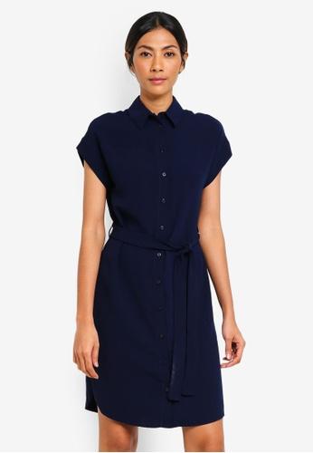 Dorothy Perkins blue and navy Navy Shirt Dress 45DE9AA2D97571GS_1