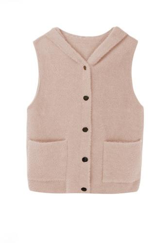 Twenty Eight Shoes beige VANSA Imitation Mink Vest Jacket  VCW-V7706 86CCAAA7ADF61DGS_1
