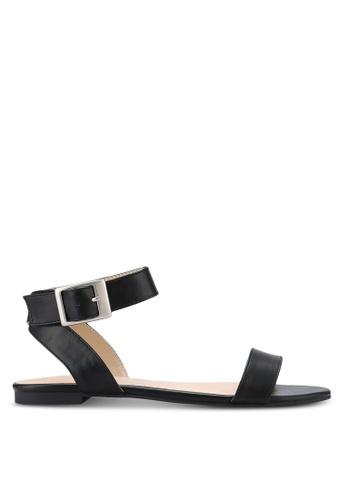 ZALORA black Cross Ankle Sandals FA116SHB66A3D9GS_1