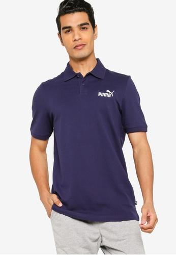 PUMA navy Essentials Pique Men's Polo Shirt 96B26AA5058136GS_1