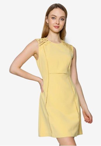 Saturday Club yellow Shift Dress With Embroidered Detail 6B3FCAAE6CC5D5GS_1