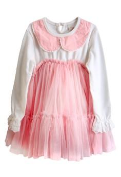 Elle Collar Long Sleeved Tulle Dress